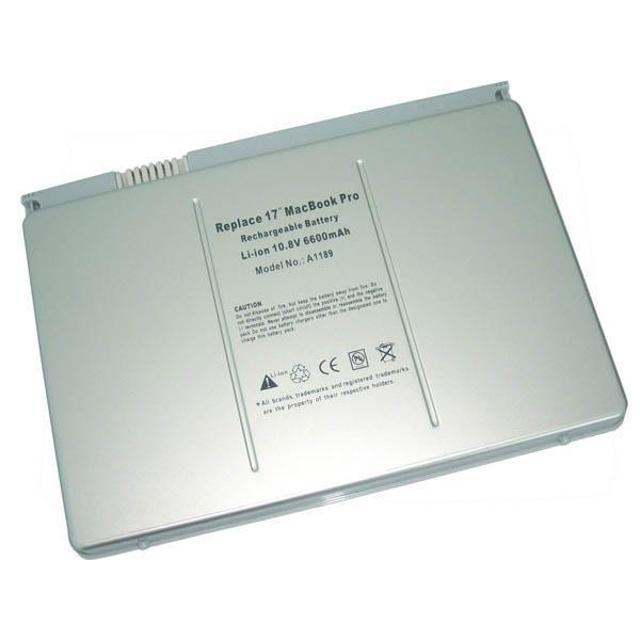 a1189 - batteria compatibile per apple macbook pro 17 - 6300 mah  lif lbap1189s6300 propart lif lbap1189s6300