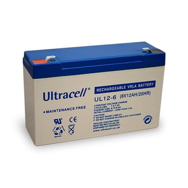 batteria al piombo ricaricabile ultracell 12Ah 6 volt CE wnt 48322 ultracell wnt 48322