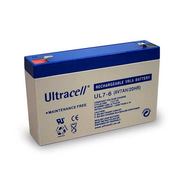batteria al piombo ricaricabile ultracell 6 volt 7Ah CE wnt 46759 ultracell wnt 46759