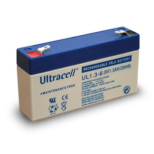 batteria al piombo ricaricabile ultracell 1,3Ah 6 volt CE wnt 46711 ultracell wnt 46711
