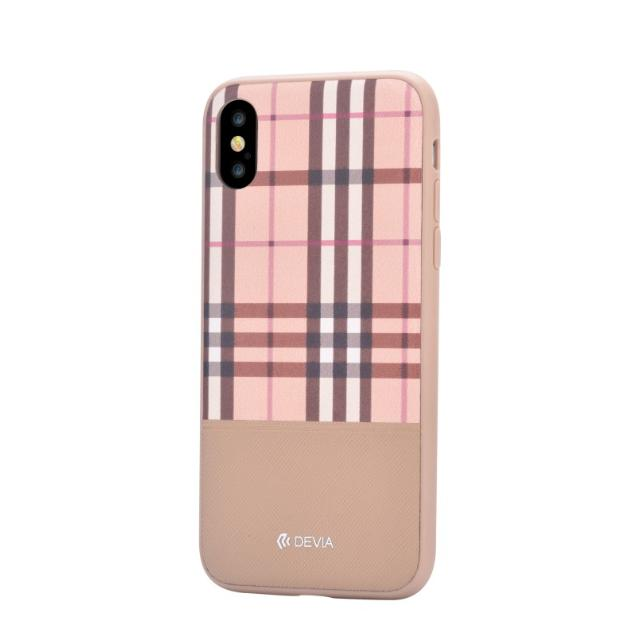 cover in pelle lattice devia per iphone x marrone lif delci8764m devia lif delci8764m