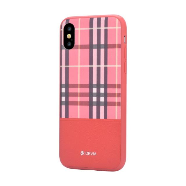 cover in pelle lattice devia per iphone x rosso lif delci8771r devia lif delci8771r