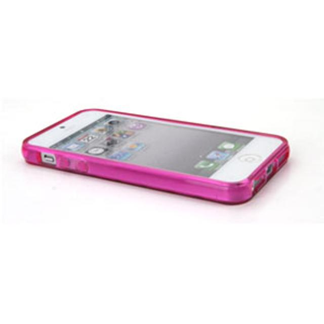 cover in silicone iphone 5 motivo tridimensionale fucsia lif coph503g myphone lif coph503g