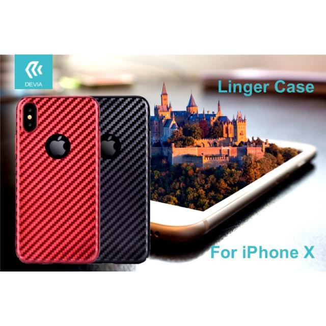 cover linger per iphone x rosso lif delcipx136r apple 36957 2/2