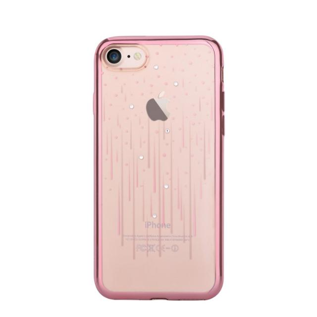 cover soft crystal meteor swarovsky iphone 7 plus oro rosa lif demip7p986g devia lif demip7p986g