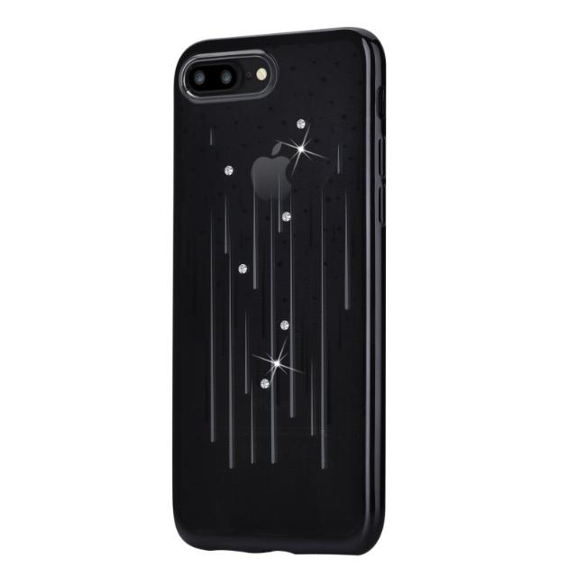 cover soft meteor crystals from swarovski iphone 7 plus nero lif demip7p706b devia lif demip7p706b