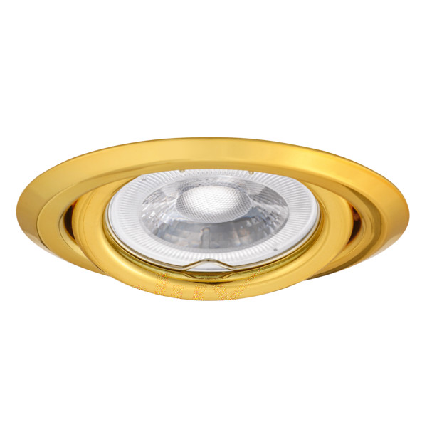 faretto da incasso 80 mm CE GX5,3 IP20 interno orientabile oro kan 00304 kanlux kan 00304