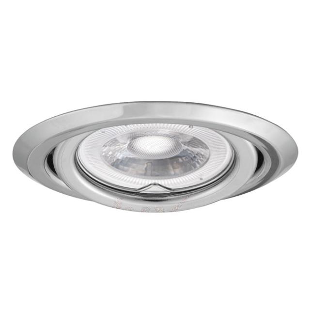 faretto da incasso 80 mm CE GX5,3 IP20 cromo interno orientabile kan 00305 kanlux kan 00305