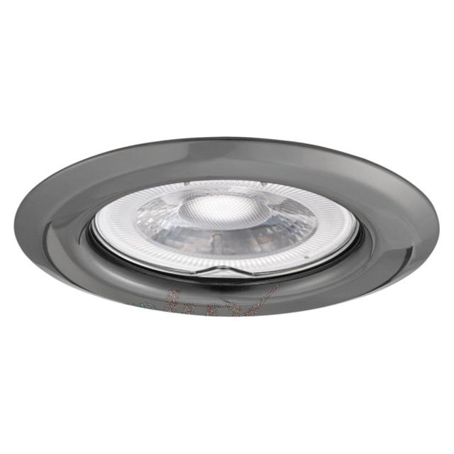 faretto da incasso 60 mm CE GX5,3 IP20 fisso grafite interno kan 00328 kanlux kan 00328