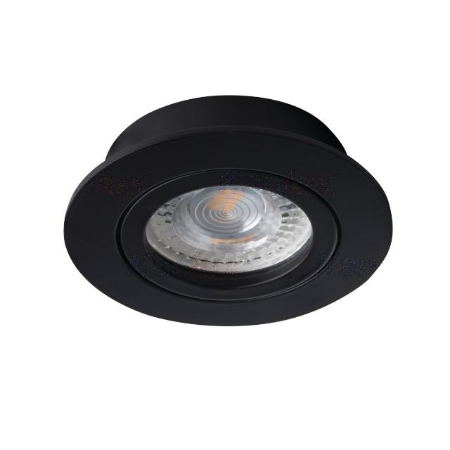 faretto incasso dalla 1 luce 70 mm CE GX5,3 IP20 interno nero orientabile tondo kan 22432 kanlux kan 22432