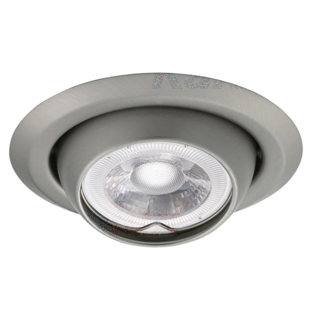 faretto incasso 80 mm CE GX5,3 IP20 cromo satinato interno orientabile kan 00337 kanlux kan 00337