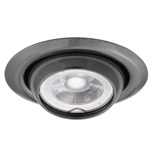 faretto incasso 80 mm CE GX5,3 IP20 grafite interno orientabile kan 00340 kanlux kan 00340