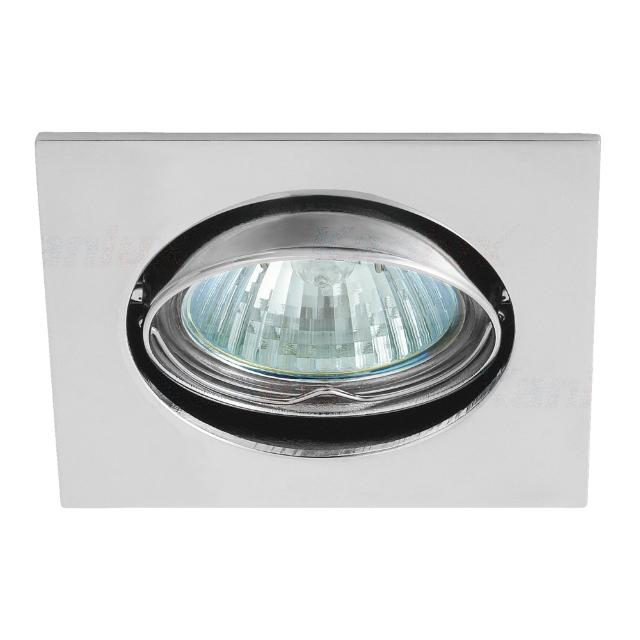 faretto incasso quadrato  75 mm CE GX5,3 IP20 cromo interno orientabile kan 02551 kanlux kan 02551