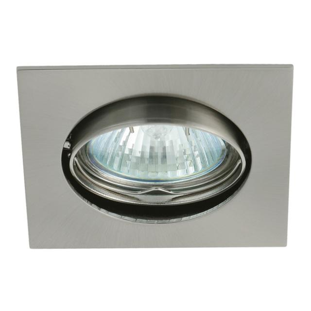 faretto incasso quadrato  75 mm CE GX5,3 IP20 cromo opaco interno orientabile kan 02553 kanlux 13362 1/2