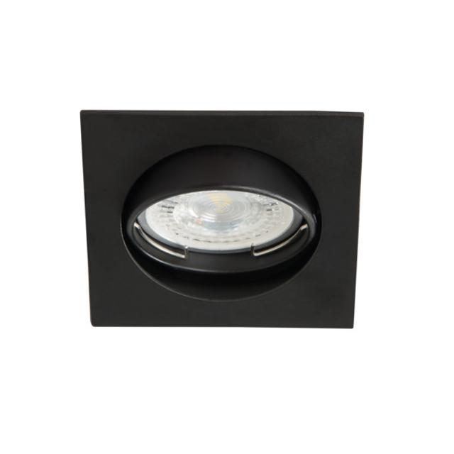 faretto incasso quadrato  75 mm CE GX5,3 IP20 interno nero orientabile kan 25991 kanlux kan 25991