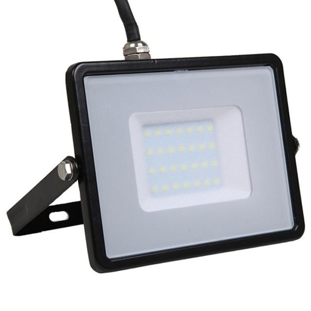 faro led chip samsung 220-240 volt 30 watt CE IP65 bianco naturale nero no tec 629034 v-tac tec 629034