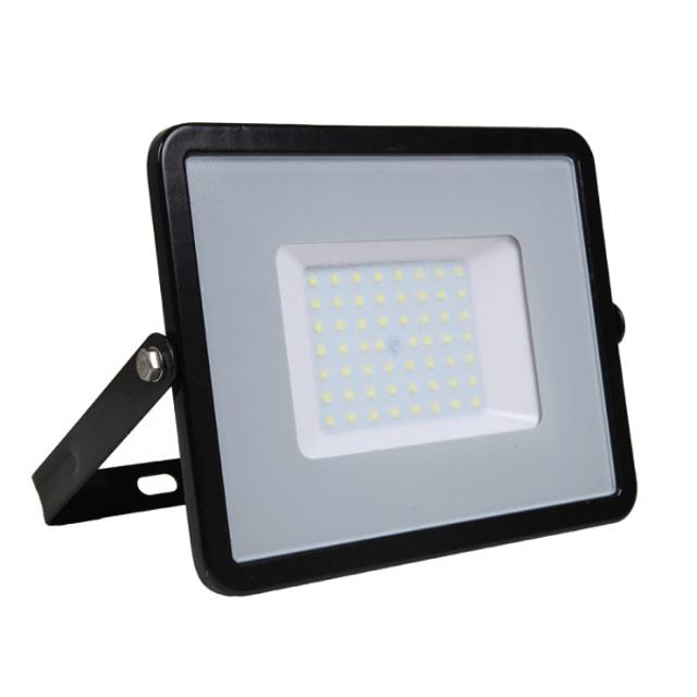 faro led chip samsung 220-240 volt 50 watt CE IP65 bianco naturale nero no tec 629072 v-tac tec 629072