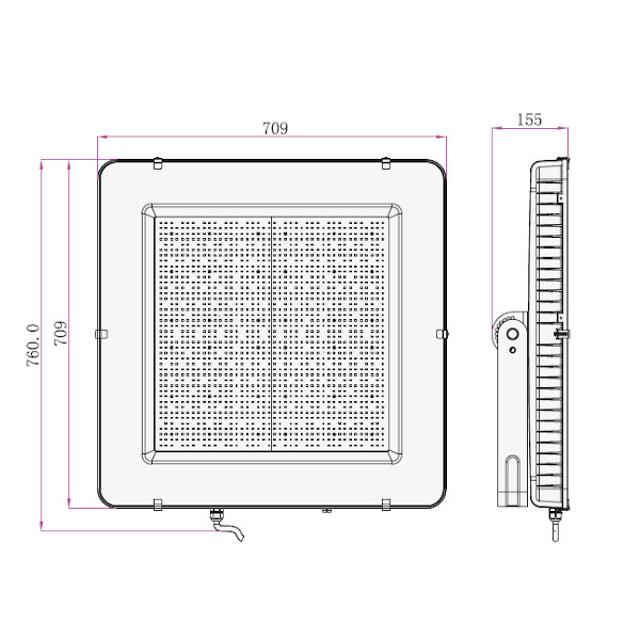faro led chip samsung 1000 watt 220-240 volt CE IP65 bianco naturale nero no tec 649766 v-tac 35590 2/2