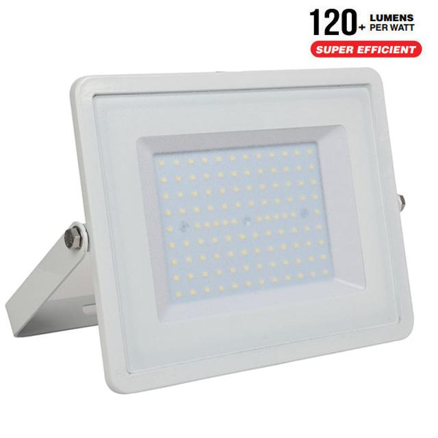 faro led chip samsung ultrà luminoso 100 watt 110° 220-240 volt A++ CE IP65 bianco bianco freddo no tec 646345 v-tac tec 646345