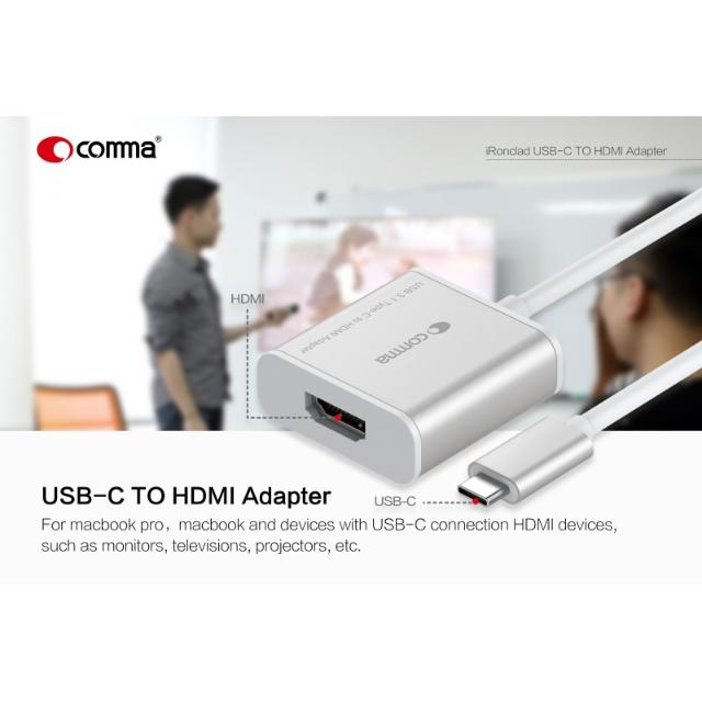 ironclad adattatore usb-c a hdmi in hd 1080p 4000x2000 px  lif coirch113 comma 37275 4/6