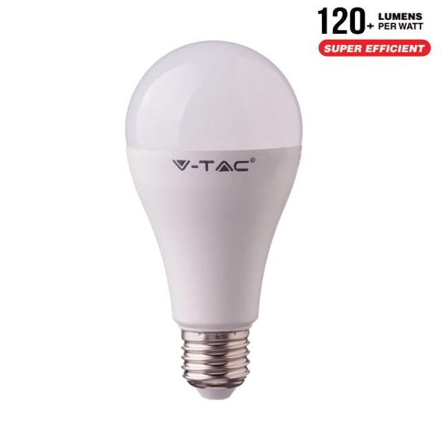 lampadina led chip samsung ultra luminosa 12 watt 200° 220-240 volt A+ CE E27 bianco freddo no tec 633611 v-tac 32486 1/2