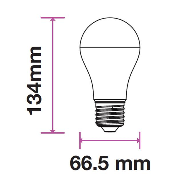lampadina led chip samsung ultra luminosa 12 watt 200° 220-240 volt A+ CE E27 bianco freddo no tec 633611 v-tac 32486 2/2