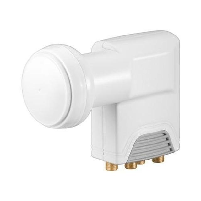 occhio lnb parabola 4 uscite multiswitch hdtv-3d professionale bianco wnt 67271 goobay wnt 67271