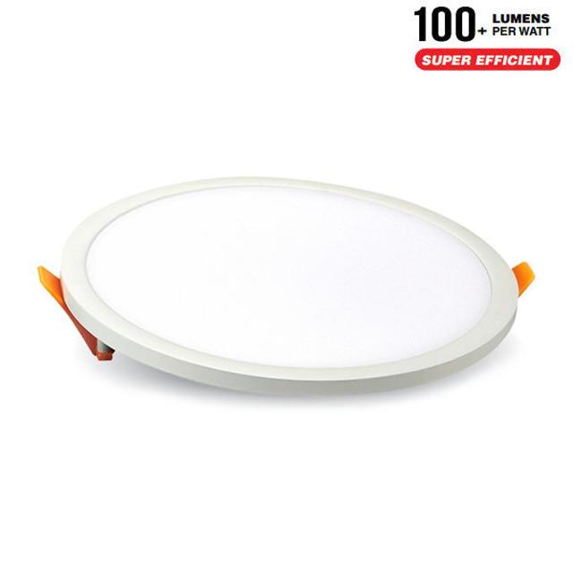 pannello luminoso led debordante 110° 220-240 volt 8 watt A+ CE IP20 bianco naturale interno no tondo tec 606486 v-tac tec 606486