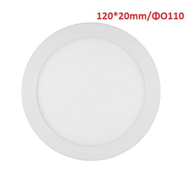 pannello luminoso led 110° 220-240 volt 6 watt CE IP20 bianco naturale no tondo lif flsp1104r6w40k fsl 34676 1/2