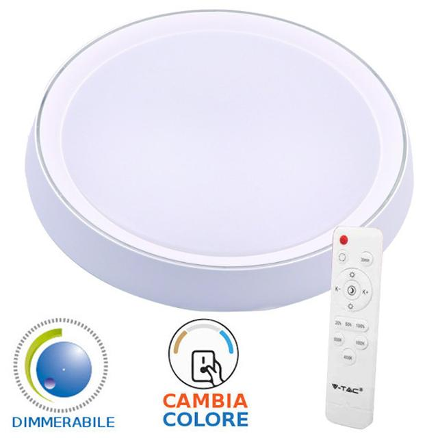 plafoniera led tonda 3 in 1 dimmerabile 120° 220-240 volt 60 watt A+ CE IP20 si tec 656627 v-tac tec 656627