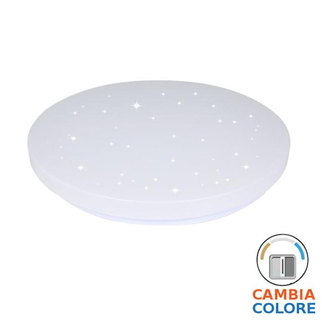 plafoniera led tonda 3 in 1 effetto stellato 120° 18 watt 220-240 volt A+ CE IP20 interno no tec 652193 v-tac tec 652193