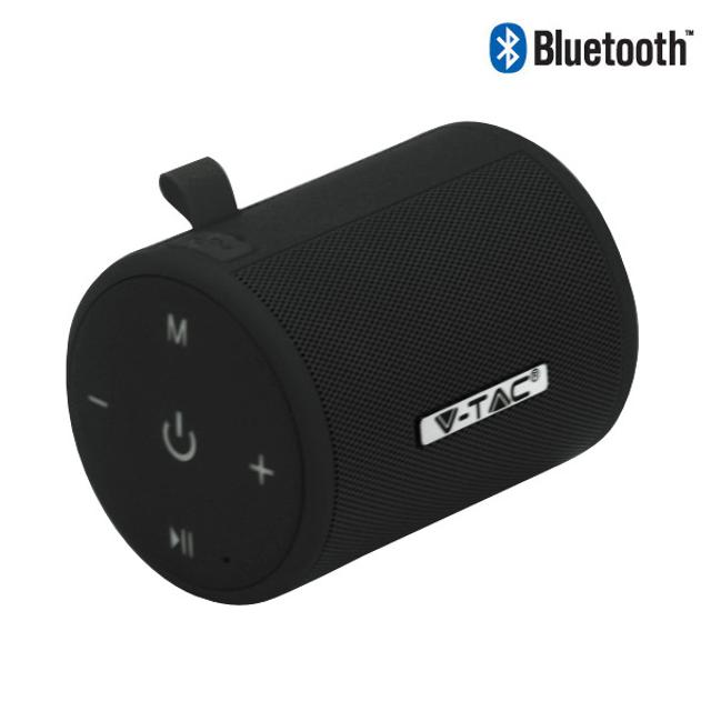 speaker altoparlante bluetooth 5 watt CE nero tec 647113 v-tac tec 647113