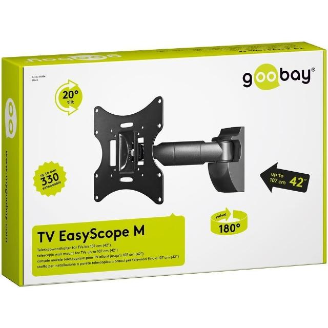 staffa tv telescopica 1 braccio 23-42 pollici CE interno nero wnt 51894 goobay 13086 2/2