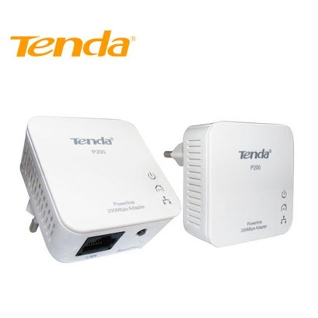 tenda p200 powerline kit 2 mini adapter up to 200mbps  lif ntp200kit tenda lif ntp200kit